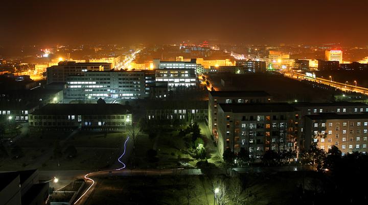 安徽科技学院校园夜景